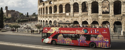 Rome from a Bus